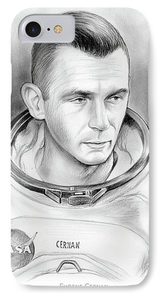 Astronaut Gene Cernan IPhone Case by Greg Joens