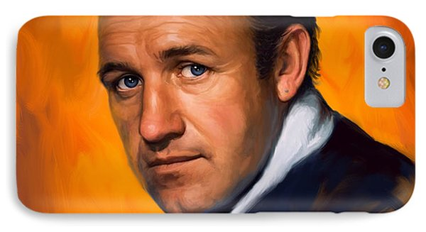 IPhone Case featuring the painting Gene Hackman by Sam Shacked