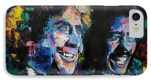 IPhone Case featuring the painting Gene Wilder And Richard Pryor by Richard Day