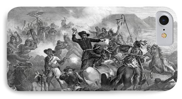 General Custer's Death Struggle  Phone Case by War Is Hell Store