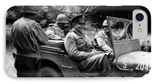 General Eisenhower In A Jeep Phone Case by War Is Hell Store