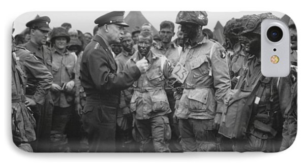 General Eisenhower On D-day  IPhone Case by War Is Hell Store