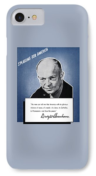 General Eisenhower Speaking For America IPhone Case
