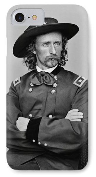 General George Armstrong Custer IPhone Case by War Is Hell Store