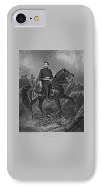 General George Mcclellan On Horseback IPhone Case by War Is Hell Store