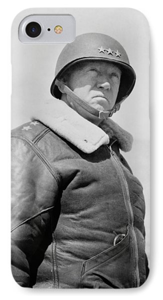 General George S. Patton IPhone Case by War Is Hell Store
