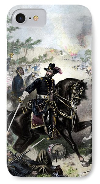 General Grant During Battle IPhone Case by War Is Hell Store
