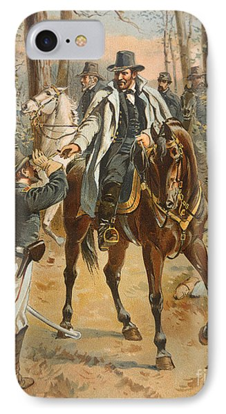 General Grant In The Wilderness Campaign 5th May 1864 IPhone Case by Henry Alexander Ogden