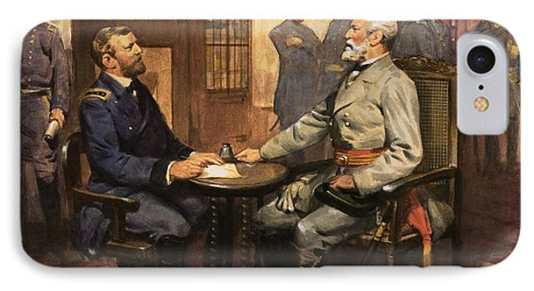 General Grant Meets Robert E Lee  IPhone Case by English School