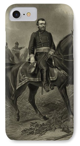 General Grant On Horseback  Phone Case by War Is Hell Store