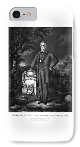 General Lee Visits The Grave Of Stonewall Jackson Phone Case by War Is Hell Store