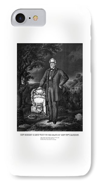 General Lee Visits The Grave Of Stonewall Jackson IPhone Case by War Is Hell Store