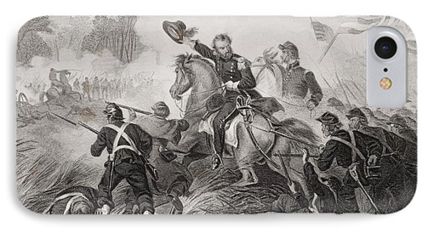 General Lyons Charge At The Battle Of IPhone Case by Vintage Design Pics