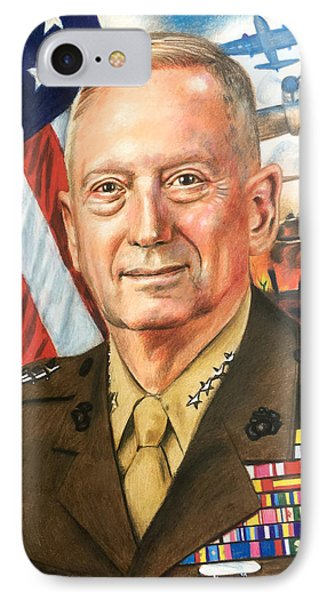 General Mattis Portrait Phone Case by Robert Korhonen