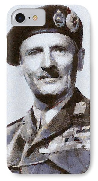 General Montgomery IPhone Case by Esoterica Art Agency