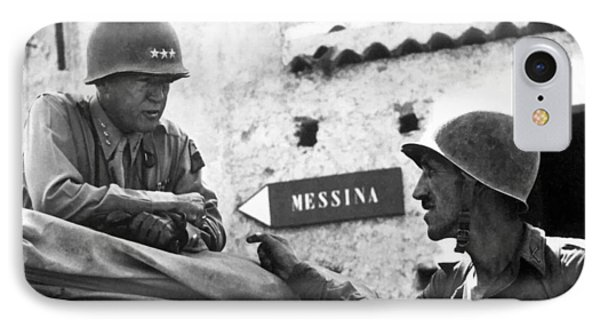 General Patton In Sicily Phone Case by War Is Hell Store