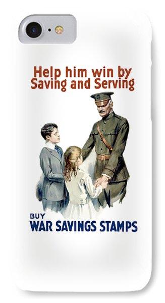 General Pershing - Buy War Saving Stamps IPhone Case