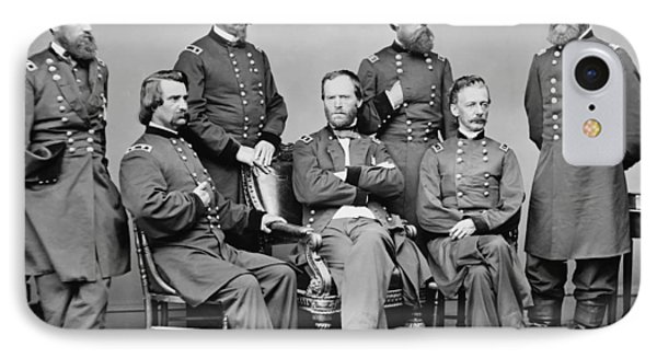 General Sherman And His Staff  Phone Case by War Is Hell Store