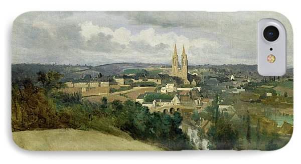 General View Of The Town Of Saint Lo IPhone Case by Jean Corot
