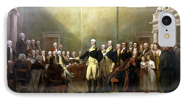 General Washington Resigning His Commission IPhone Case by War Is Hell Store