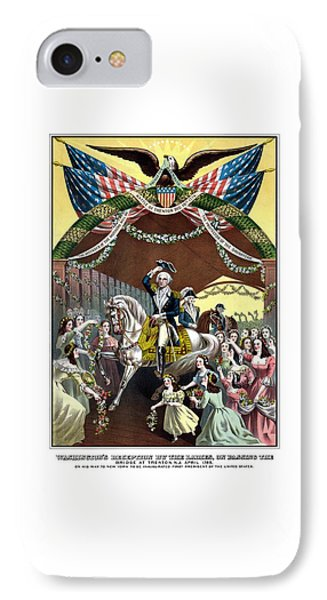 George Washington iPhone 7 Case - General Washington's Reception At Trenton by War Is Hell Store