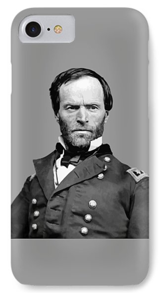 General William Tecumseh Sherman Phone Case by War Is Hell Store