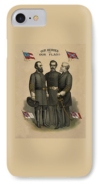 Generals Jackson Beauregard And Lee Phone Case by War Is Hell Store