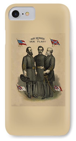 Generals Jackson Beauregard And Lee IPhone Case
