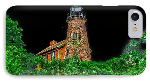 Genesee Lighthouse IPhone Case by William Norton