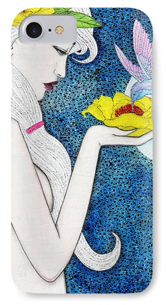 IPhone Case featuring the mixed media Genesis by Natalie Briney
