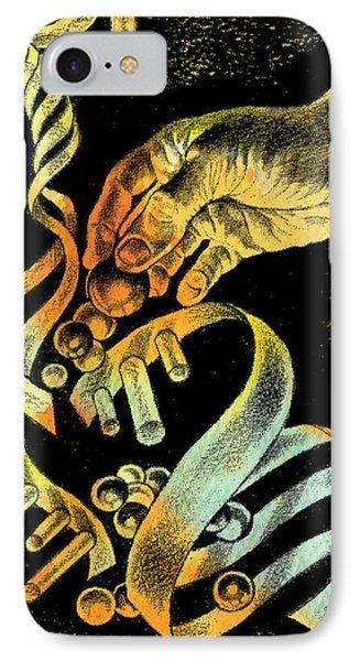 Genetic Engineering IPhone Case by Leon Zernitsky