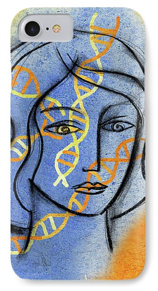 IPhone Case featuring the painting Genetics by Leon Zernitsky