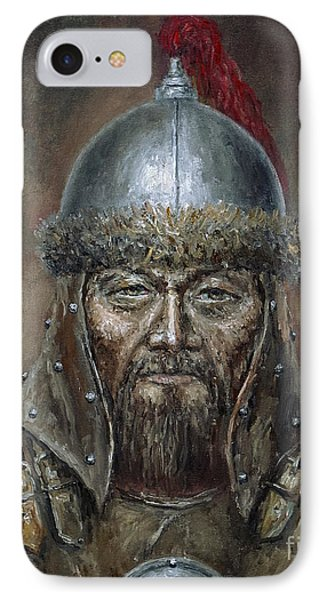Genhis Khan IPhone Case by Arturas Slapsys