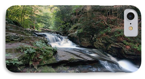 IPhone Case featuring the photograph Gentle Summer Flow Over Conestoga Falls by Gene Walls