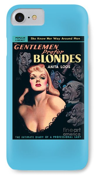IPhone Case featuring the painting Gentlemen Prefer Blondes by Earle Bergey