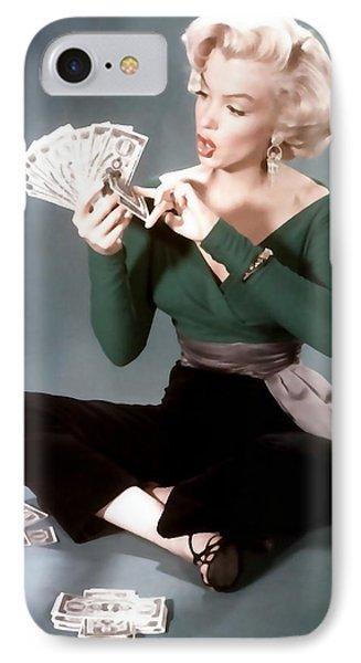IPhone Case featuring the painting Gentlemen Prefer Blondes Movie Art Staring Marilyn Monroe by R Muirhead Art