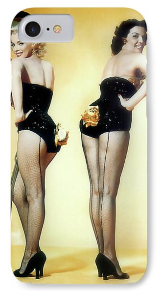 IPhone Case featuring the painting Gentlemen Prefer Blondes by R Muirhead Art