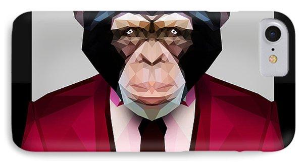 Geometric Chimpanzee IPhone Case