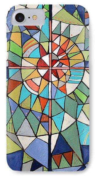 Geometric Cross IPhone Case by Jen Norton