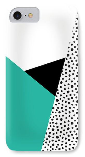 Geometric Modern Triangles With Spots IPhone Case by Rachel Follett