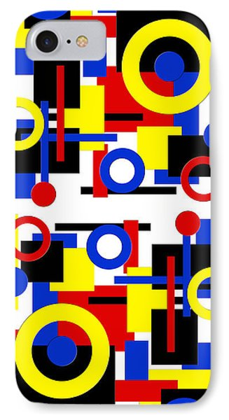 IPhone Case featuring the digital art Geometric Shapes Abstract V 1 by Andee Design