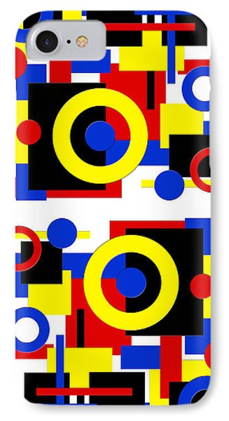 IPhone Case featuring the digital art Geometric Shapes Abstract V 2 by Andee Design