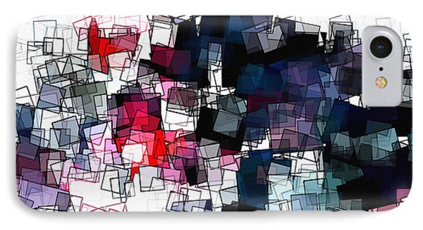 Geometric Skyline / Cityscape Abstract Art IPhone Case by Ayse Deniz