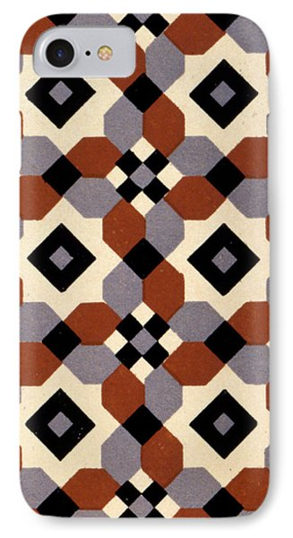 Geometric Textile Design IPhone Case by English School