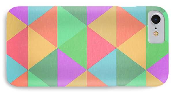 Geometric Triangles Abstract Square IPhone Case by Edward Fielding