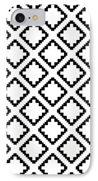 Geometricsquaresdiamondpattern IPhone 7 Case by Rachel Follett