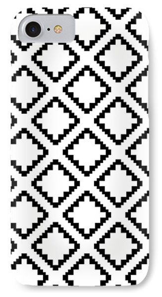 Geometricsquaresdiamondpattern IPhone 7 Case by Rachel Follett