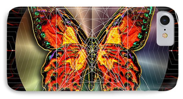 Geometron Fyr Lepidoptera IPhone Case by Iowan Stone-Flowers