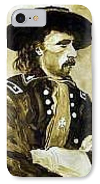 George Armstrong Custer Phone Case by Kevin Heaney