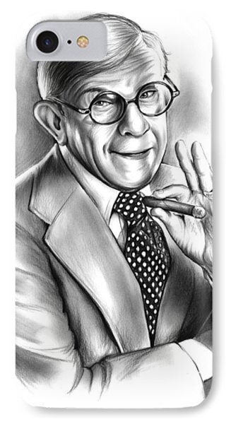 George Burns IPhone Case by Greg Joens